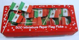 Mexican Flag Picks x 20