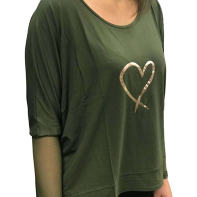 Mi Moso - Lovers Lane Sheer Top - Khaki