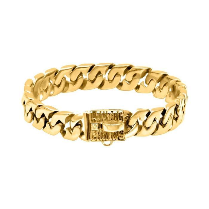 Miami Cuban Link Gold Dog Collar by Big Dog Chains