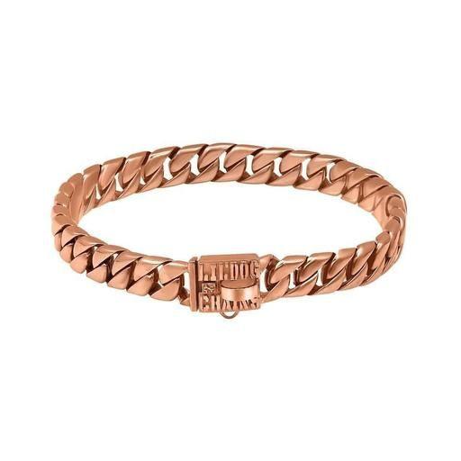 Miami Rose Gold Cuban Link  Dog Collar by Big Dog Chains