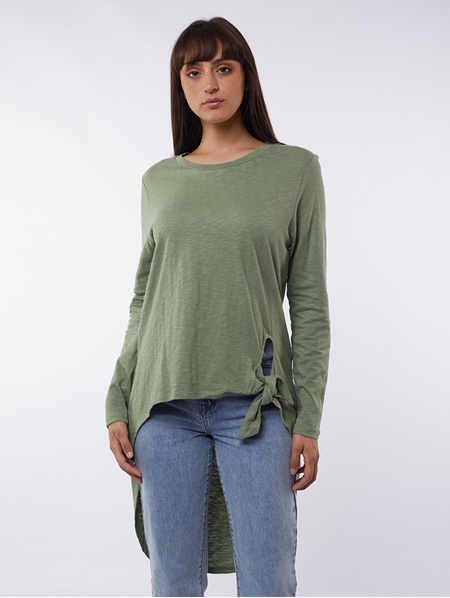 Michelle Tail L/S Tee - Green