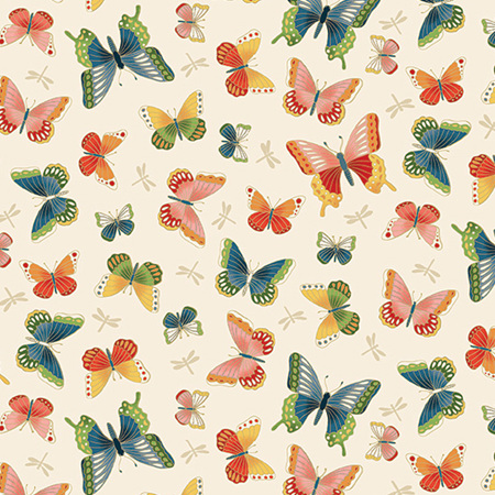 Michiko Butterflies Cream TP-2334-Q