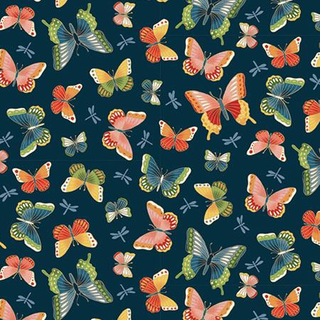 Michiko Butterflies Navy Blue TP-2334-B