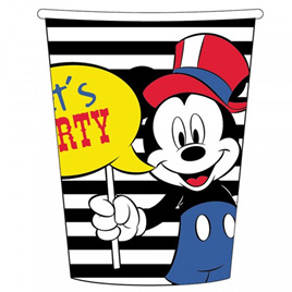 Mickey carnival theme cups x 8.