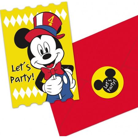 Mickey carnival theme invites x 8.