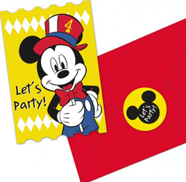 Mickey carnival theme invites x 8.