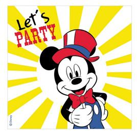Mickey carnival theme napkins x 16
