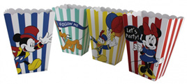 Mickey carnival theme popcorn boxes x8