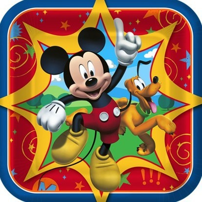 Mickey Fun & Friends - party plates x 8