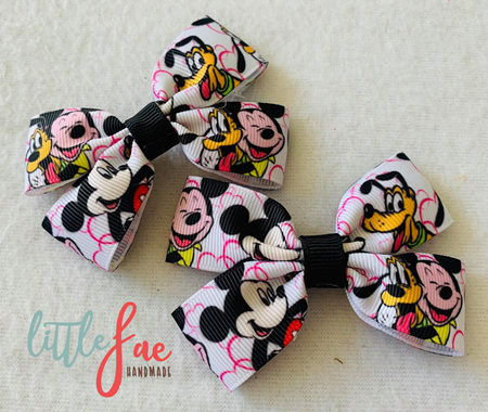 Mickey & Goofy Hair Bows