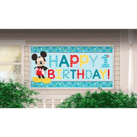 Mickey Happy 1st banner