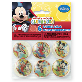 Mickey Mouse Clubhouse - Pack of 6 Bouncy balls
