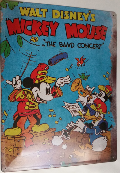 "Mickey Mouse ""The Band Concert"" Tin Sign"