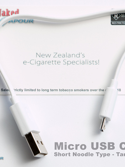Micro USB Cable - Short Noodle Type - Tangle Free