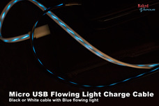 Micro USB Flowing Light Charge Cable