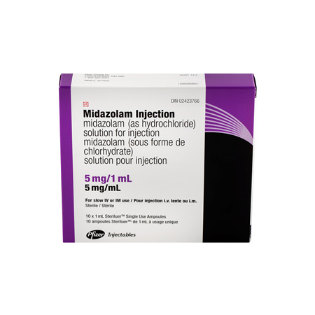 MIDAZOLAM PFIZER AMPOULE 5MG/1ML 10