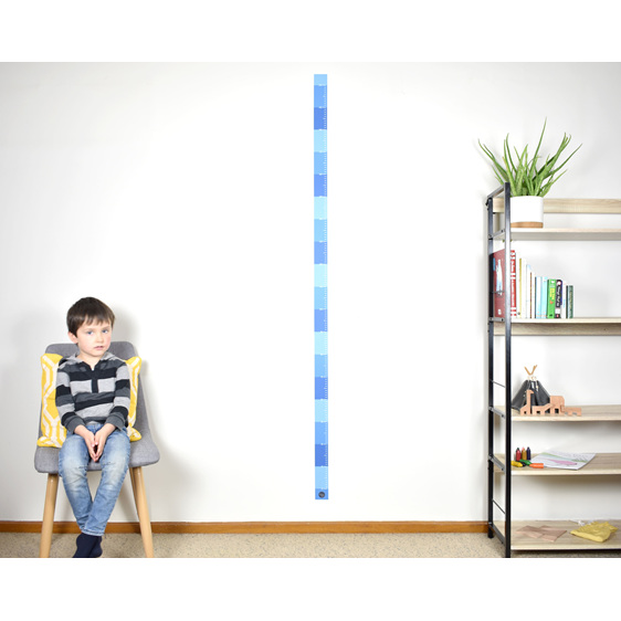Midnight blue skinny height chart wall decal