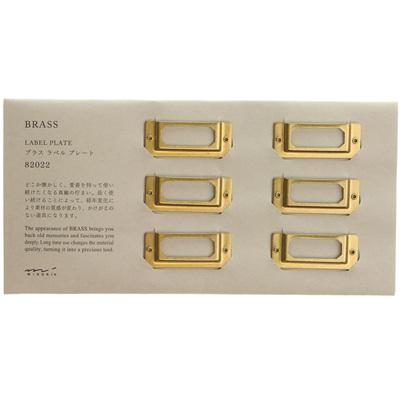 Midori Brass Label Plates