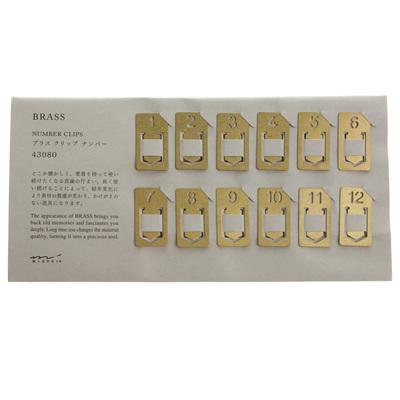Midori Brass Number Clips