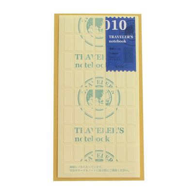 Midori traveler's notebook accessory - 010 - double sided adhesive stickers