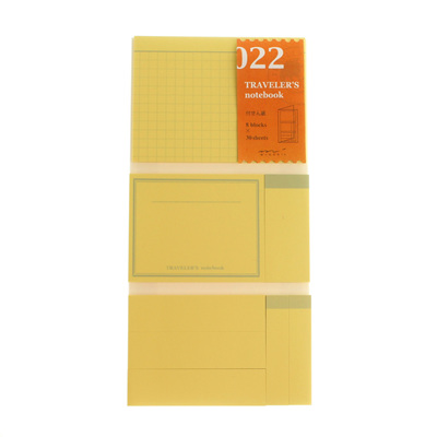 Midori traveler's notebook accessory - 022 - sticky notes