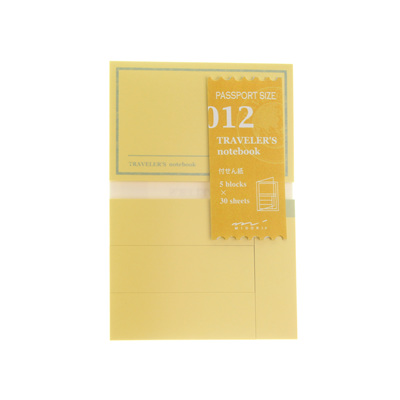Midori traveler's notebook passport size accessory - 012 - sticky notes