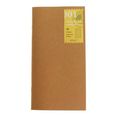 Midori traveler's notebook refill - 001 - lined notebook