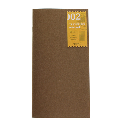 Midori traveler's notebook refill - 002 - grid notebook
