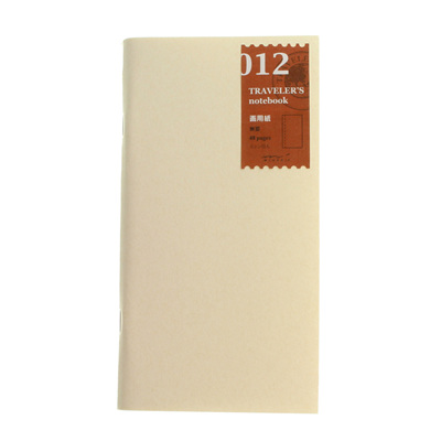 Midori traveler's notebook refill - 012 - sketch notebook