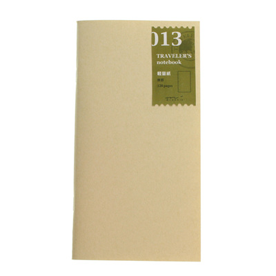 Midori traveler's notebook refill - 013 - light weight paper notebook