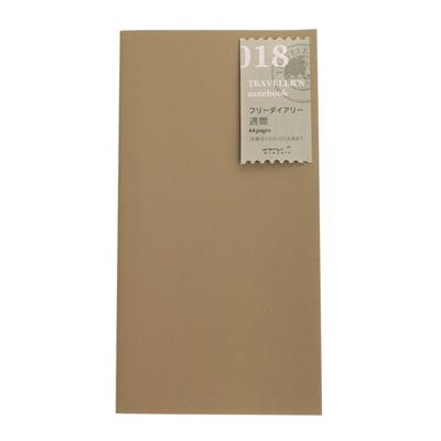 Midori traveler's notebook refill - 018 - free diary - weekly
