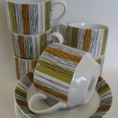 Sienna cups and saucers