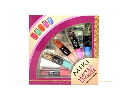 Miki colour and sparkle duo nail polish