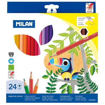 Milan Coloured Pencils - Pack 24