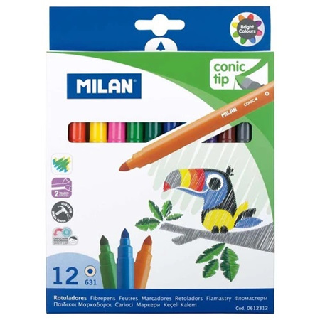 Milan Conic Tip Markers