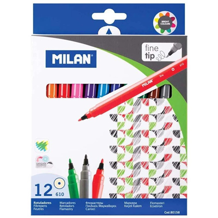 Milan Fine Tip Markers