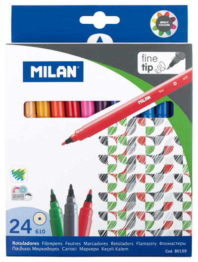 Milan Markers Fine Tip - 24 Pack