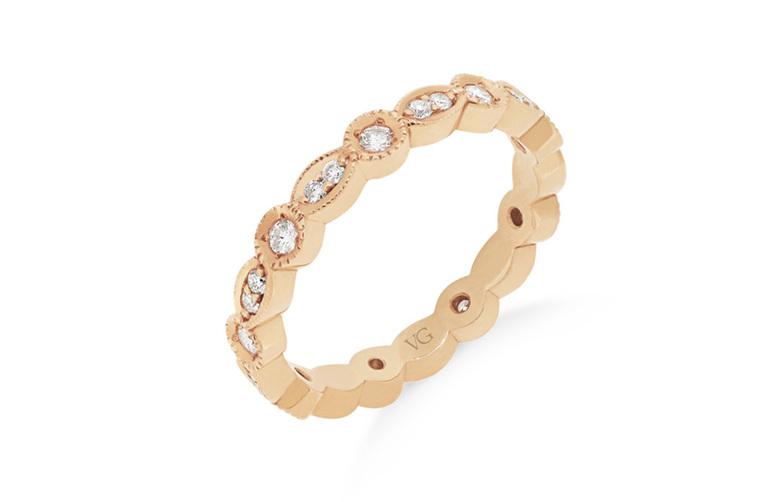 Milgrain Edge Diamond Ring