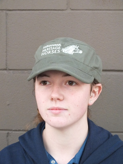 Military style cap- green
