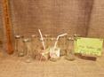 milk bottle table decoration vases drinks glass hire