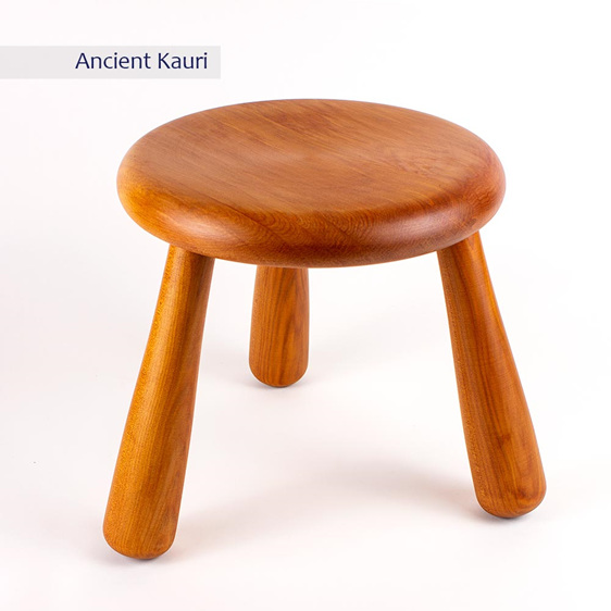 milking stool - ancient kauri