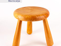milking stool - macrocarpa
