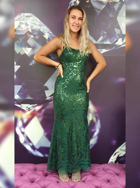 Millie Sequin Dress - Green