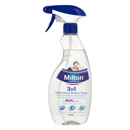 MILTON 3IN1 ANTI BACTERIAL SPRY 500M