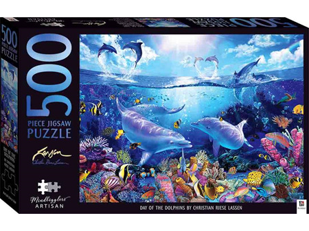 Mindbogglers 500 Piece Artisan Jigsaw Day of the Dolphins