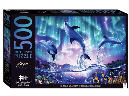 Mindbogglers Artisan 500 Piece Puzzle The Music of Aurora