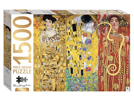 Mindbogglers Gold 1500 Piece Jigsaw Puzzle Klimt Collection