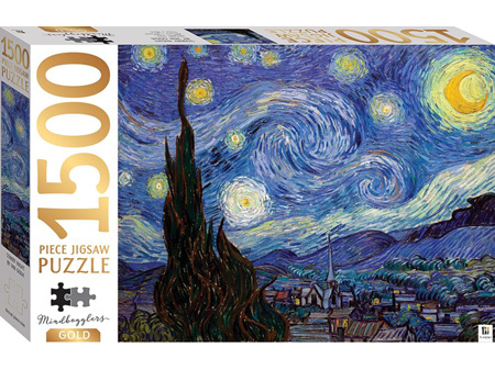 Mindbogglers Gold 1500 Piece Jigsaw Puzzle Starry Night by Van Gogh