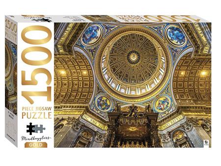 Mindbogglers Gold 1500 Piece Jigsaw St Peters Basilica