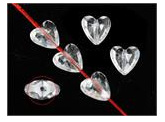 Mini Acrylic Hearts Clear - 100pk